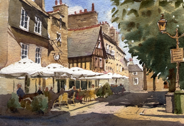 026 - French Cafe, Dinan, Brittany