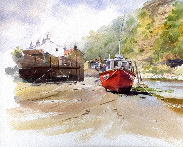 082 - Red Boat, Staithes