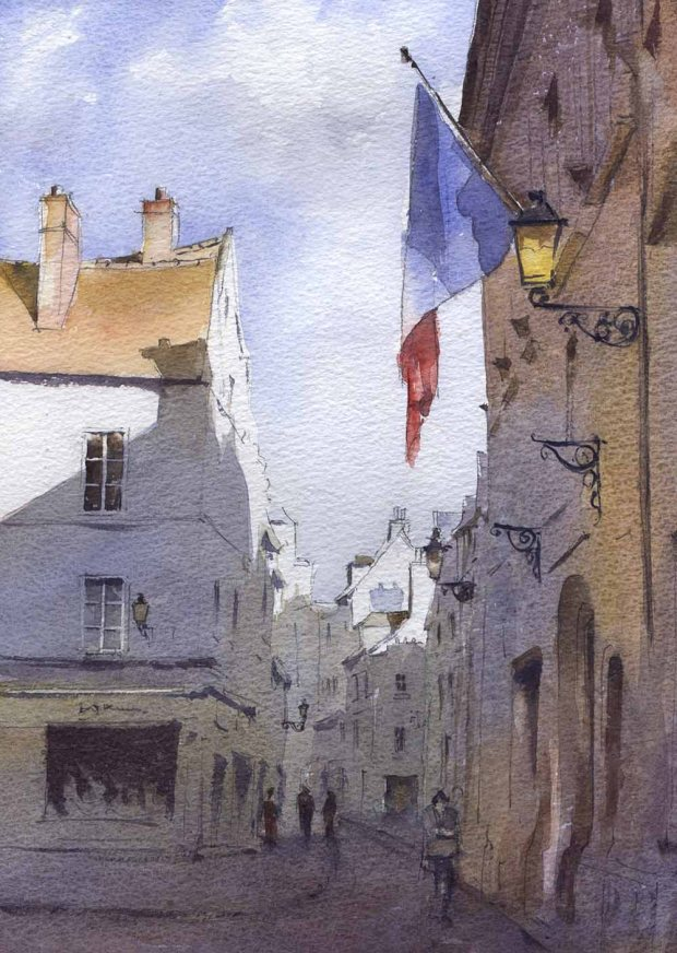 093 - French Flag, Senlis
